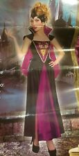 WOMAN'S COSTUME LARGE 12-14 EVIL QUEEN GOTHIC HALLOWEEN DRESS UP PARTY (ak)