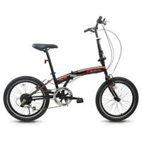 "20"" Folding Bike Bicycle 7 Speed Shimano Gear Steel  Hybrid Sport Foldable Cycle"
