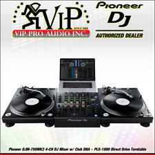 Pioneer DJM-750MK2 4-CH DJ Mixer w/Club DNA +(2) PLX-1000 Direct Drive Turntable