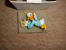 DISNEY DCA DONALD DUCK Angel Playing Harp GROLIER Holiday Christmas Ornament