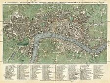 Guide de poche ancien plan London & Westminster map by J. Ellis 1770 Art Poster