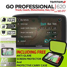 TomTom GO Professional 620 Trucker Truck Bus Van Lifetime Traffic & Map Updates