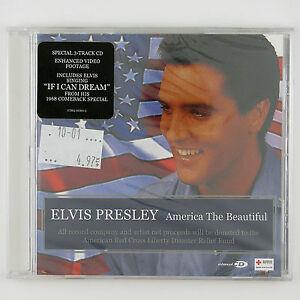 ELVIS PRESLEY America The Beautiful 3TRACK CD 2001  ROCK (SEALED/UNPLAYED)