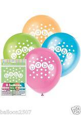 8 Polka Dot Baby Shower Unisex Boy Girl Balloons Latex Decoration Pastel 42370