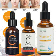 3 Types 20% Vitamine C Hyaluronique Acide Sérum Éclaircissant Visage Anti-tâche