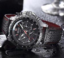 Montre Sport Top Marque Bracelet cuir Homme Fashion Men Watch +BOITE