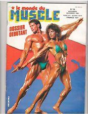 Le Monde Du MUSCLE #56 bodybuilding magazine/Diana Dennis 12-85 (Fr)