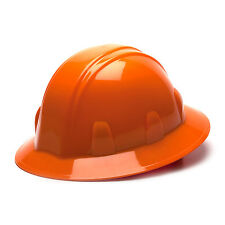 Pyramex Hard Hat Orange FULL BRIM With 4 Point Ratchet Suspension, HP24140