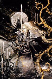 RGC Huge Poster - Castlevania Symphony of the Night Alucard PS1 PSX - CAS028