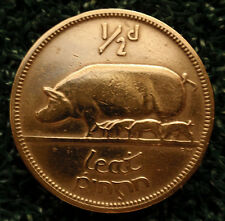 Irish Lucky Half Penny Halfpenny 1/2 Penny Sow & Piglets (2nd Bonus Coin - FREE)