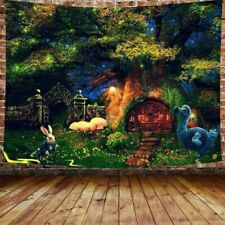 Tree Houses Forest Tapestry Wall Hanging Tapestry Psychedelic Hippie Home Decor