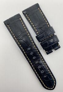 Authentic Officine Panerai 26mm x 22mm Dark Blue Alligator Watch Strap Band OEM
