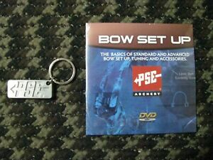 NEW PSE BOW SET-UP DVD AND KEY CHAIN  RETAIL $17.00 SALE $10.00