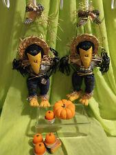 Wall / Door Hanging Scarecrow Crows Pair