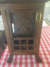 Vintage early 1900's Arts and Crafts Mantel Clock