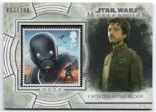 2018 Star Wars Masterwork Stamp Relics S-KC Captain Cassian Andor K-2SO /200