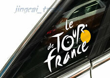 White Le Tour de France Logo Car Auto SUV Window Body Fuel Tank Sticker Decal