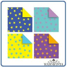 Japanese Origami Paper STAR  Chiyogami Double Side 7.5 x 7.5 cm 32 Sheets