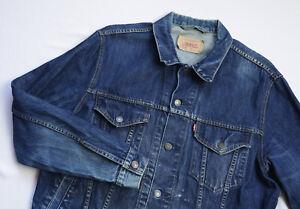 Levis Vintage Trucker Denim Jean jacket mens top size L Large blue 70550 VTG
