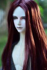 "8-9-10"" 1/3 BJD Red Brown Long Wig LUTS Doll SD DZ DOD MSD Pullip Soom Hair HUAL"