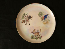 Nursery Rhyme Plate And Cup – Hand Made And Painted In Usa – Signed By Fran