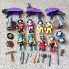 Playmobil Job Lot / Bundle of Knights Soldiers Figures Horses Cannons Weapons