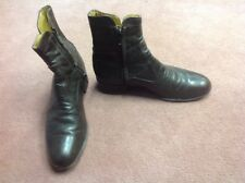 Men's Black leather Ankle Boots Size 6.5 Very Good Preowned Condition