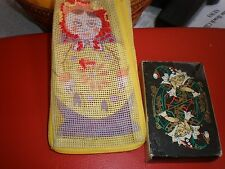 VINTAGE Playing Cards Russian Palekh Yellow Deck 56  Cards NEVER USED IN A POUCH