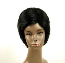 perruque afro femme 100% cheveux naturel courte noir ref LAET 04/1b