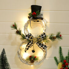 Christmas Wreath Decor For Xmas Home Festival Door Wall Garland Flower Ornaments