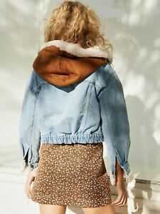 Free People Perry Hooded Denim Jacket Size S