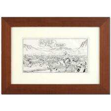 """Old West Stampede"" Signed Original Bizarro Cartoon Art; Framed; COA"