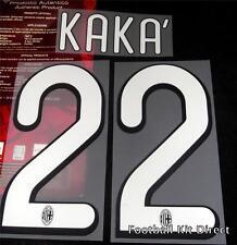 AC Milan Kaka 22 2009/10 Camiseta De Fútbol Nombre Set Kit de reproductor de casa Tamaño