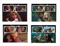 TANGLED WALT DISNEY  8  SOUVENIR SHEETS animation cartoons