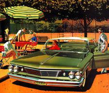 1960 Pontiac Bonneville 4 door hardtop, Flat Flexible Refrigerator Magnet, 40 Ml