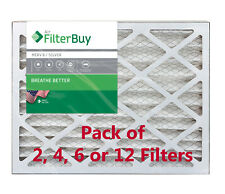 FilterBuy 20x25x2, Pleated HVAC AC Furnace Air Filter, MERV 8, AFB Silver