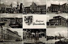 BRAUNSCHWEIG Niedersachsen Mehrbild-Ak um 1950/60 ua. Theater, Hafen, Hochschule