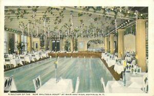 Buffalo New York Main & High Restaurant Interior 1920s Postcard Teich 21+-1851