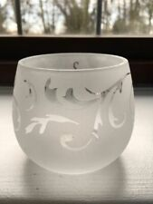 Yankee Candle glass tealight/votive holder