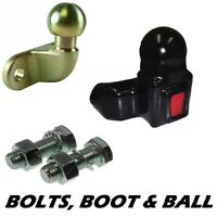 Tow Ball, Cover with Reflector & 2 Towball Bolts nuts washer (towbar towing bar)