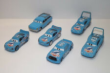LOT OF 6 DISNEY CARS DINOCO TEAM BLING BING MCQUEEN THE KING MRS THE KING LOOSE