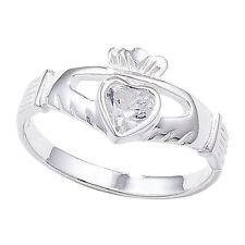 Cubic Zirconia Claddagh Fashion Rings