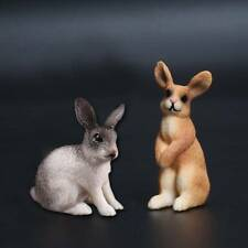 Simulation mini Rabbit Animal model figure hare figurine home decor miniature I