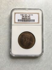 1926 Jersey 1/12 Shilling NGC MS 64 RB