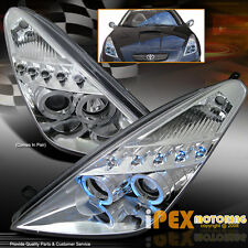 NEW 2000-2005 Toyota Celica Dual Halo Projector LED Headlight Headlamp Chrome