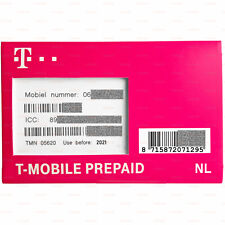 Ready-to-use Anonymous SIM card T-Mobile NL 10 € Credit Prepaid 4G Netherlands