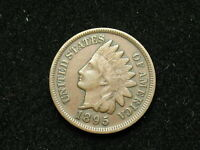 BEAUTIFUL EXTRA FINE 1895 INDIAN HEAD CENT PENNY w/ FULL LIBERTY & DIAMONDS #30v