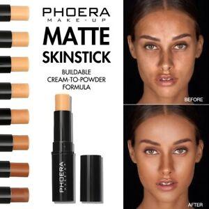 PHOERA Matte Concealer Contour Brighten Skin Color Long Oil Control Makeup Stick