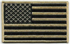 Coyote Noir États-unis Poitrine Drapeau Patch hook & loop tape Crochet Attache