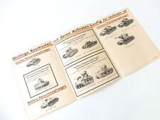 """Anlage zu H.Dv.469/2a """"Panzer Erkennungstafel 1"""" Übersichtstafel der sowjet-russ"""
